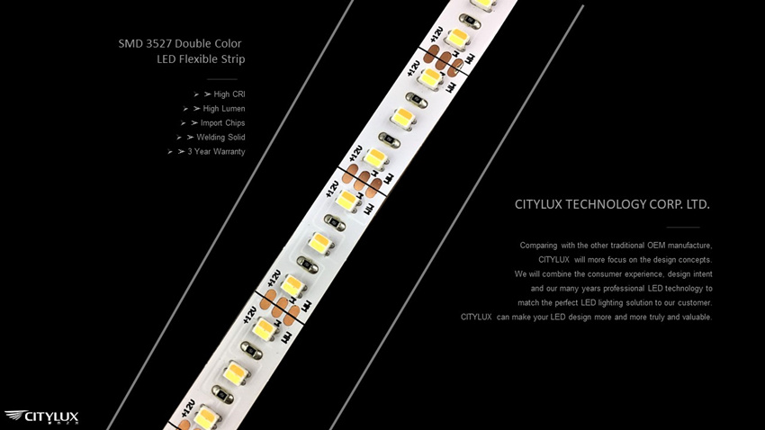 Import Chips SMD 3527 Double Color LED Flexible Strip